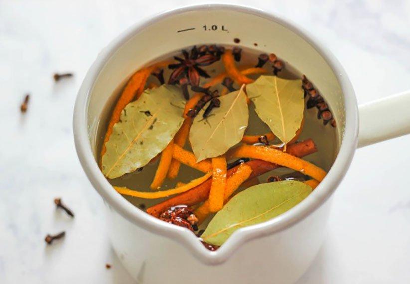 مخلوط معطر برگ بو و پوست پرتقال برای خوشبو کردن خانه