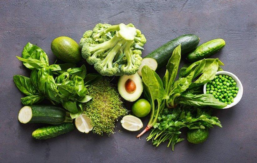 تغذیه مادر شیرده - برگهای سبز