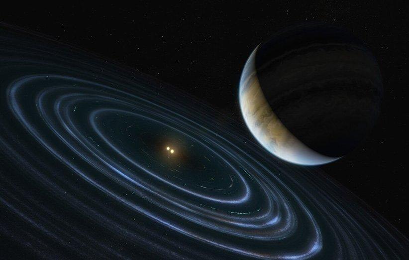 طرح گرافیکی از سیارهی فراخورشیدی HD 106906 b