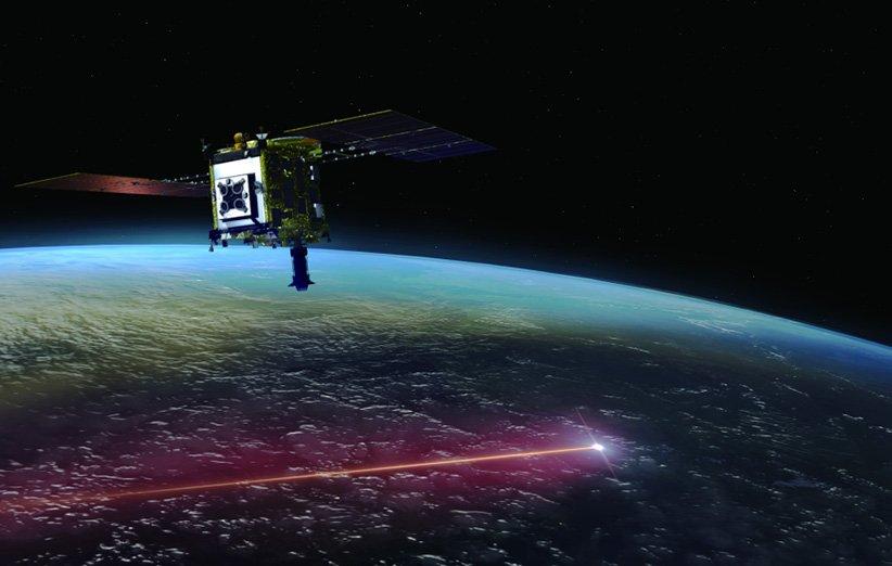 طرح گرافیکی از جدایی و ورود به جو کپسول بازگشت فضاپیمای هایابوسا 2 ژاپن که حاوی نمونهی سیارک ریوگو است.