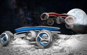طرحی گرافیکی از ماشینهای کنترلی احتمالی در ماه