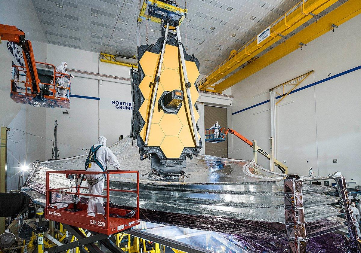 آزمایش آفتابگیر تلسکوپ فضایی جیمز وب