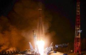 پرتاب موشک سایوز 2.1b برای در مدار قرار دادن ماهوارههای ارتباطی Gonets-M روسیه