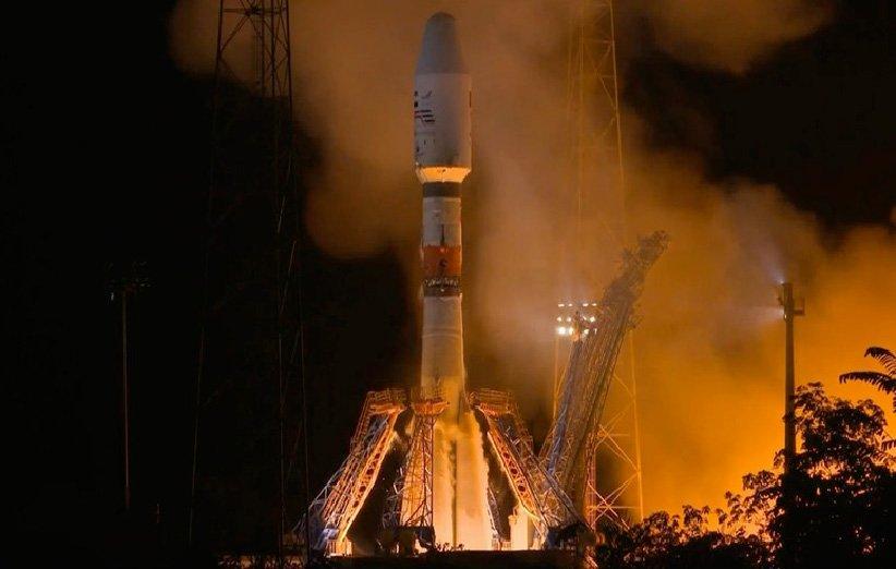 پرتاب موشک روسی سایوز ST-A توسط آریاناسپیس برای در مدار قرار دادن ماهوارهی «چشم شاهین 2» امارات