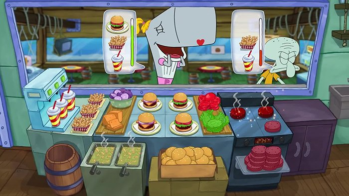 بازی Spongebob Krusty Cook off