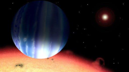 طرحی گرافیکی از سیارهی تاو گاوران بی