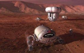 طرحی گرافیکی از حضور مأموریتهای رباتیک و سرنشیندار ناسا در مریخطرحی گرافیکی از حضور مأموریتهای رباتیک و سرنشیندار ناسا در مریخ