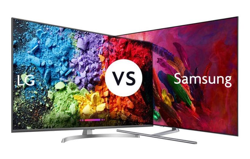 مقایسهی تلویزیونهای سامسونگ و الجی