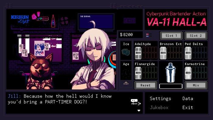 بازی VA-11 Hall-A: A Cyberpunk Bartending Simulator