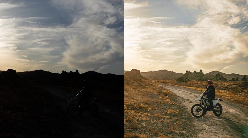 عکس ProRAW و عکس ProRAW بعد از ویرایش
