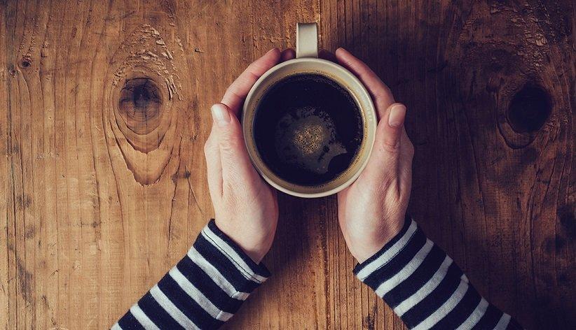 فنجان قهوه بی دو دست