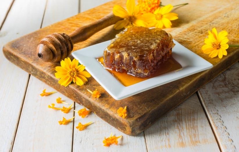 اسکراب چای - عسل خام