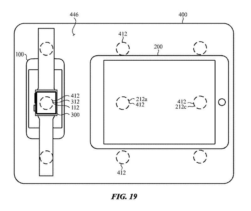 تصویری از چگونگی شارژ شدن آیپد، اپل واچ و آیفون به صورت بیسیم و به کمک مک بوک