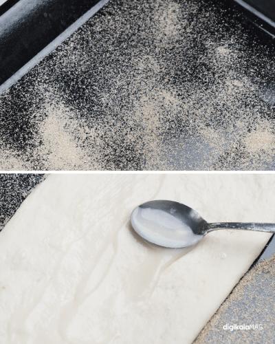 طرز تهیه نان بربری با خمیر ترش