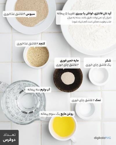 طرز تهیه نان در خانه
