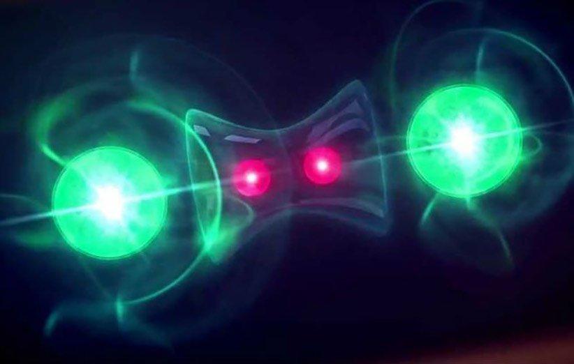 طرحی گرافیکی از درهمتنیدگی کوانتومی