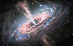کهکشانی با یک کوازار فعال