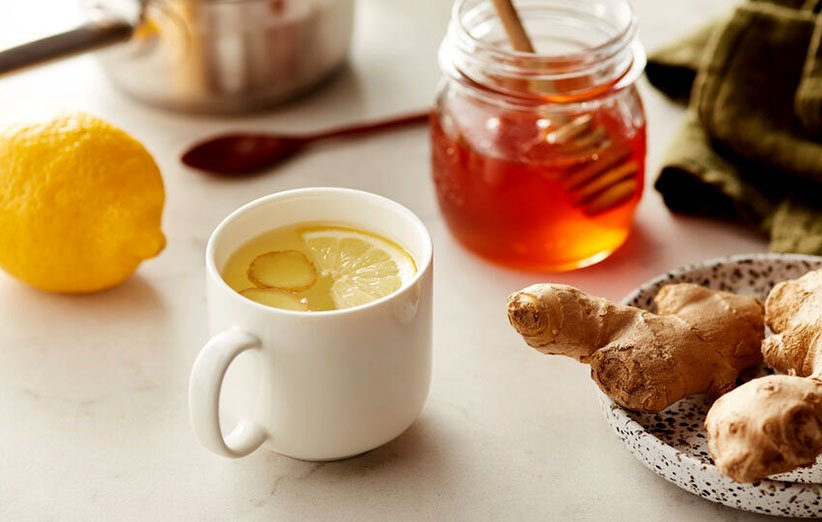 چای زنجبیل مخصوص گلو درد
