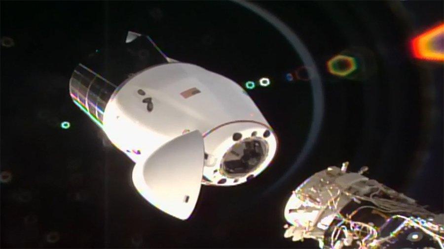 جدایی کپسول باری دراگون از ایستگاه فضایی بینالمللی