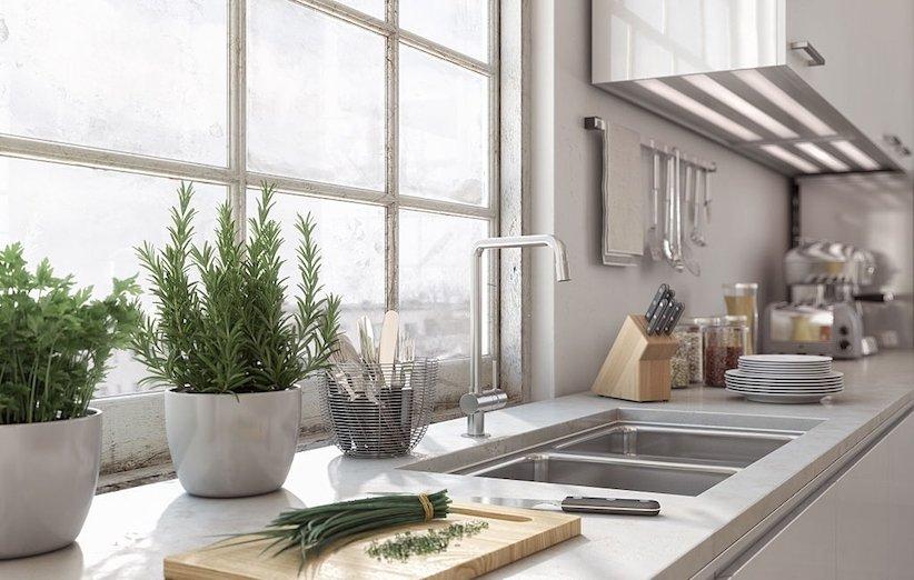 دکوراسیون آشپزخانه 2021 - ارتباط با فضای خارجی