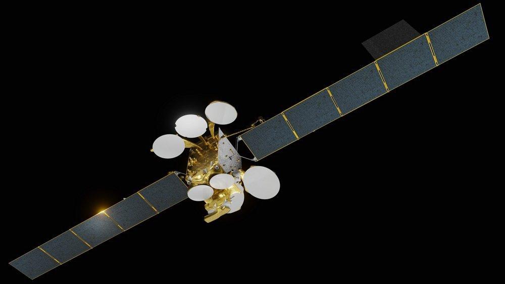 طرحی گرافیکی از ماهوارهی ترکست 5A