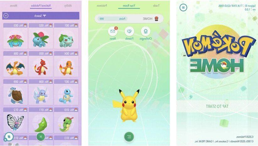 اپلیکیشن Pokémon Home