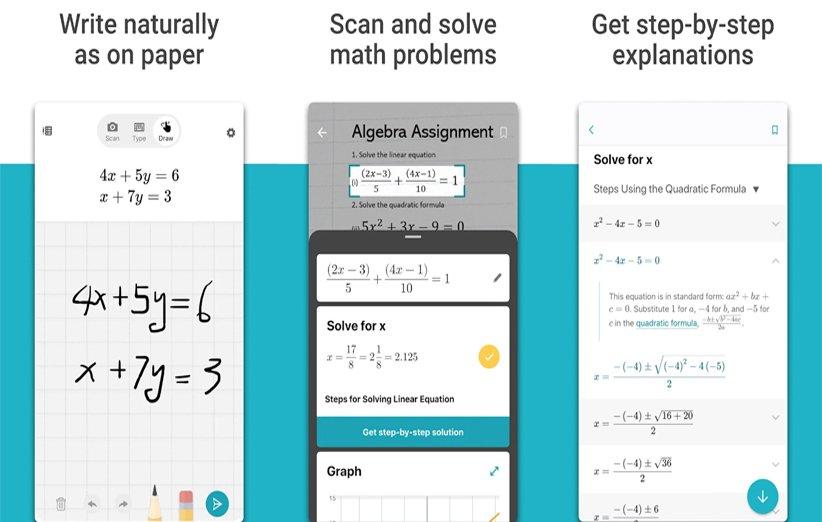 اپلیکیشن Microsoft Math Solver