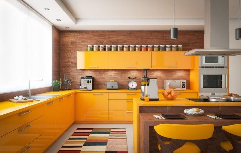 دکوراسیون آشپزخانه 2021 - رنگهای گرم