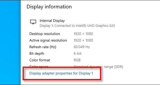 تغییر رفرشریت نمایشگر ویندوز 10