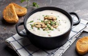 طرز تهیه سوپ قارچ و خامه