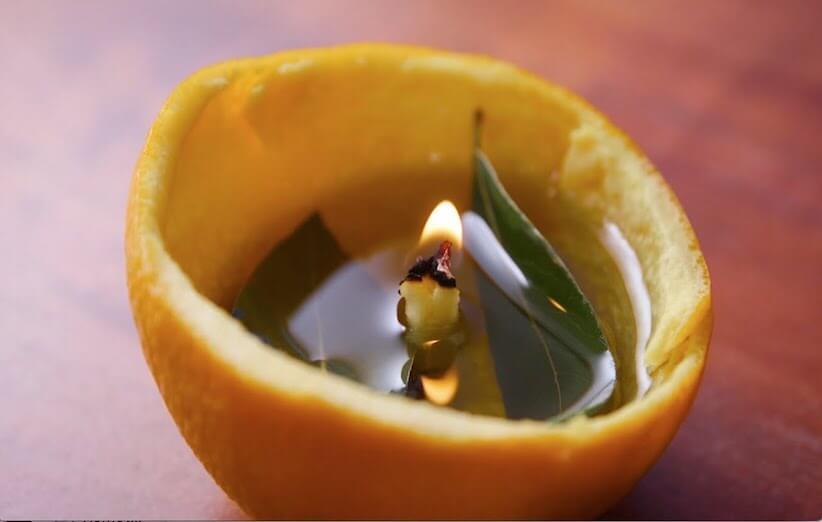 پوست پرتقال - شمع پرتقالی