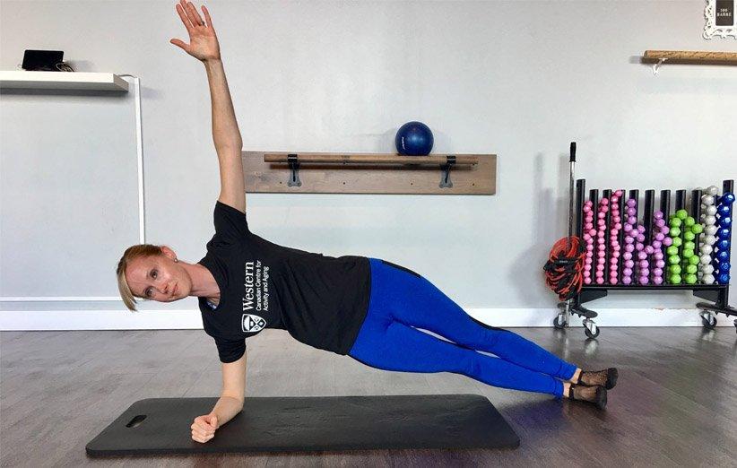 تمرین ورزشی ساید پلانک