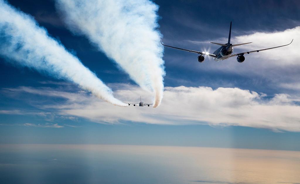 پرواز پشت سر هم دو هواپیما برای افزایش راندمان