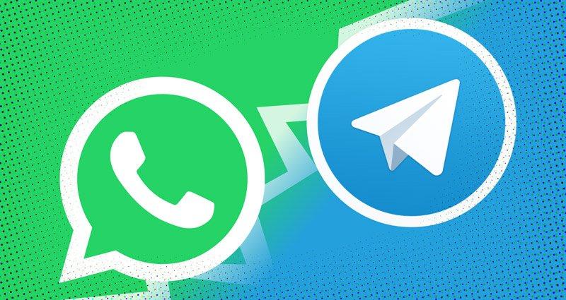 تلگرام در مقایسه با واتساپ