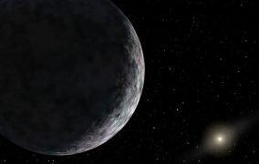 طرحی گرافیکی از FarFarOut به عنوان دورترین جرم مشاهده شده در منظومهی شمس