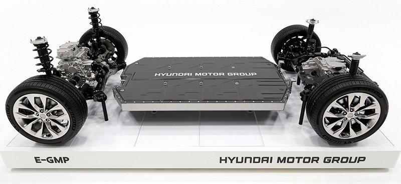 تصویری از پلتفرم E-GMP هیوندای برای خودروهای الکتریکی