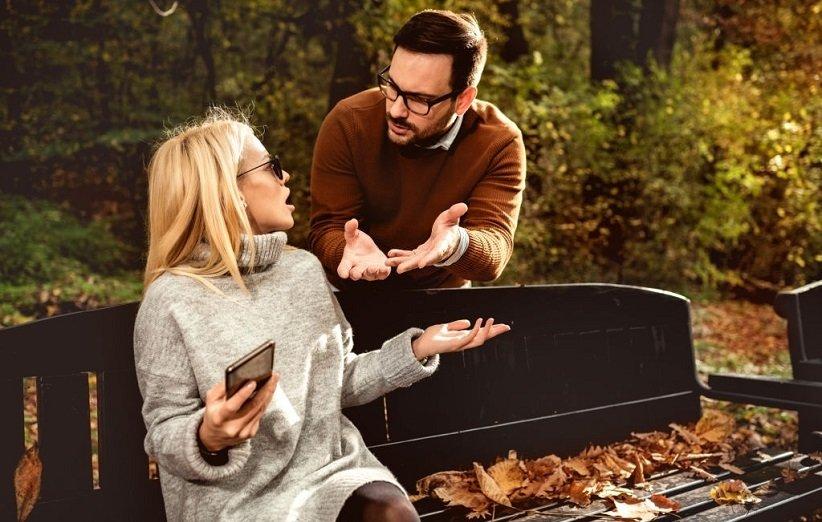 زن و شوهر در حال مشاجره