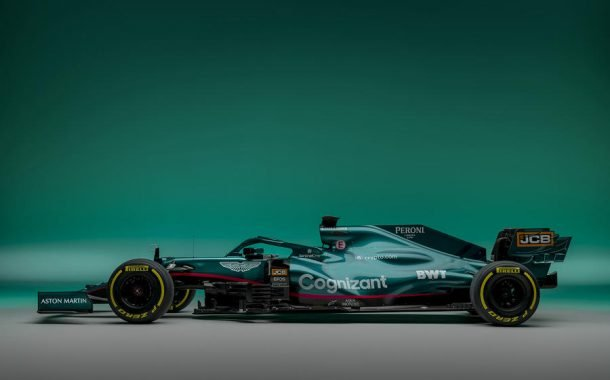 خودروی مسابقهای AMR21 استون مارتین برای فصل 2021 رقابتهای فرمول یک