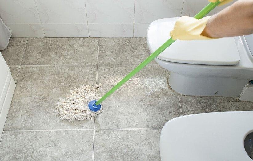 تمیزکاری - پشت توالت و روشویی