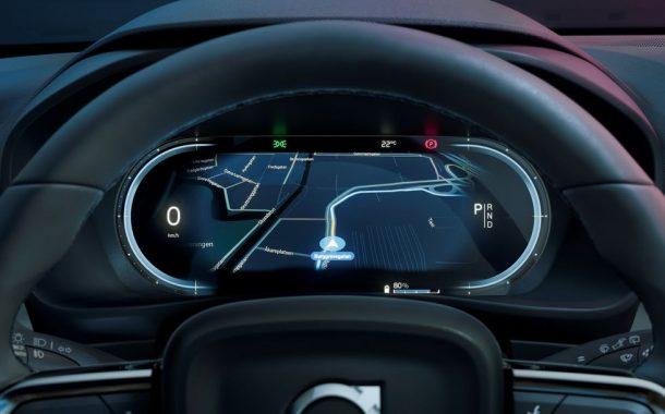 سیستم دیجیتال خودروی شاسیبلند تمام الکتریکی ولوو C40 Recharge بر پایهی اندروید