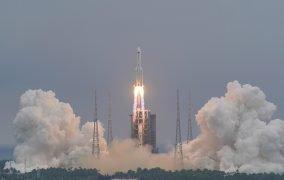 پرتاب ماژول مرکزی ایستگاه فضایی چین با نام تیانهه توسط موشک لانگ مارچ 5