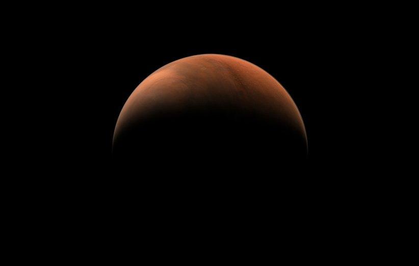 هلال سرخ مریخ توسط کاوشگر تیانون-1 چین