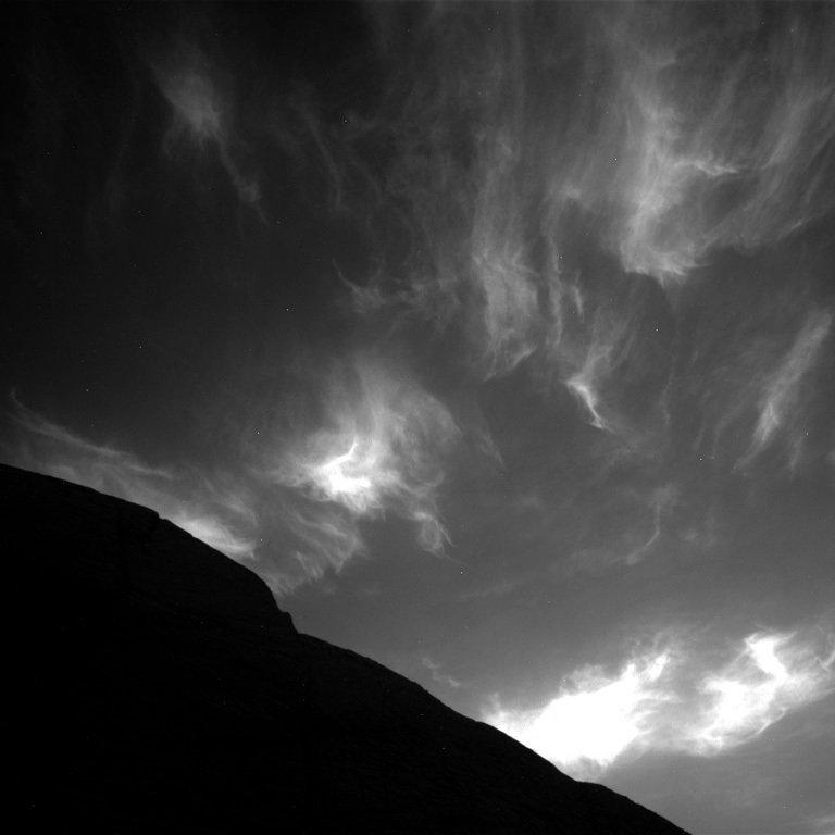 ابرهای مریخی از نگاه مریخنورد کنجکاوی