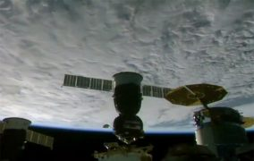 اتصال کپسول فضایی سایوز روسیه با نام «یوری گاگارین» به ایستگاه فضایی بینالمللی