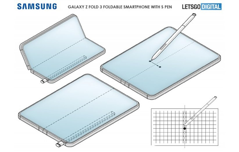 گلکسی Z Fold 3 با قلم S-Pen