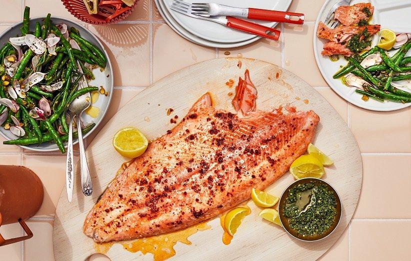 ماهی سالمون حاوی ویتامین B