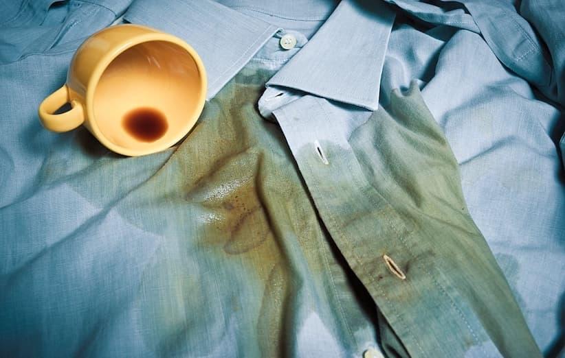 پاک کردن لکهی چای از روی لباس