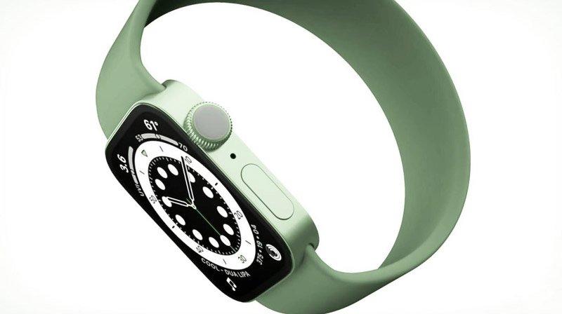 طرح مفهومی اپل واچ سری 7 سبز
