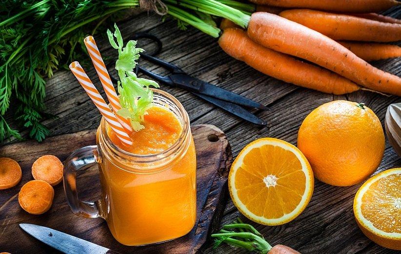 اسموتی پرتقال و زنجبیل برای آب کردن چربی شکم