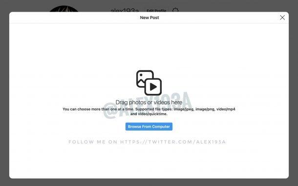 ساخت پست اینستاگرام از طریق کامپیوتر